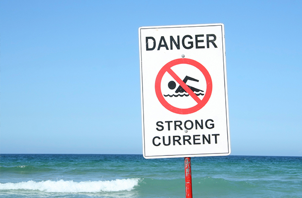 Beware of strong currents
