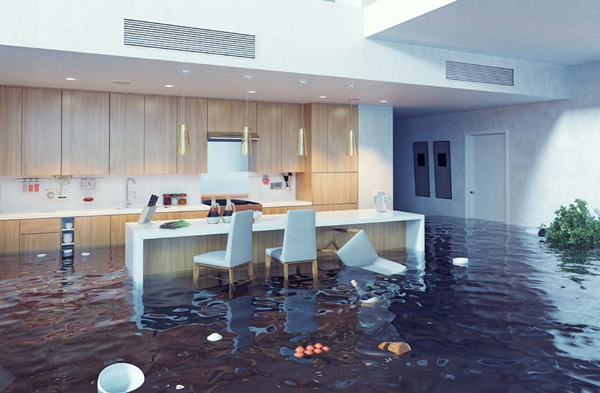 Flooding indoors